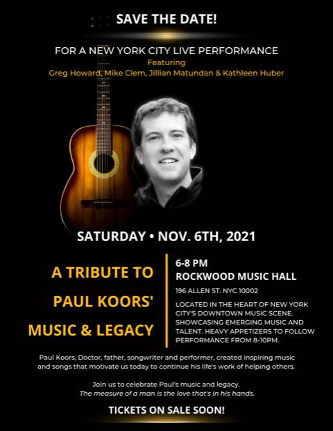 Paul Koors Tribute Concert: Mike Clem and Greg Howard: