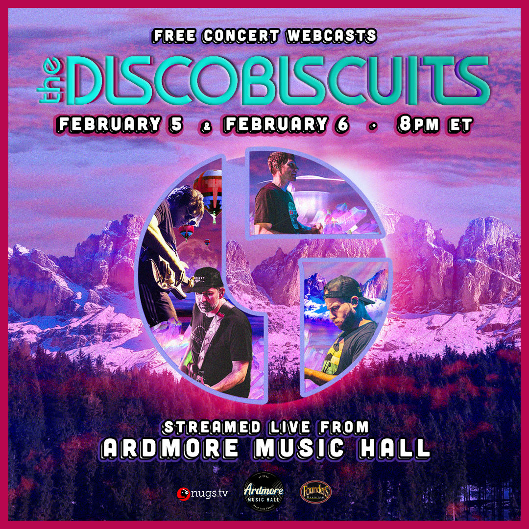 The Disco Biscuits: LIVE On Stage Webcasts Fri 2/5 & Sat 2/6: