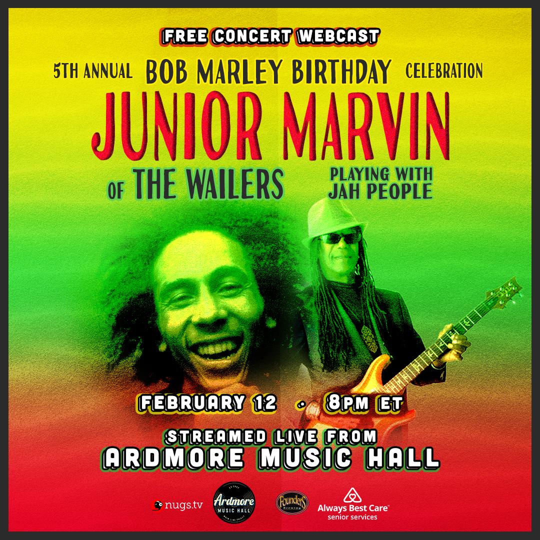 Junior Marvin (of The Wailers): Bob Marley Bday LIVE Webcast: Main Image
