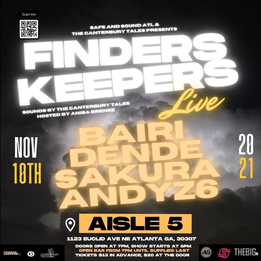 Finders Keepers Live featuring Bairi