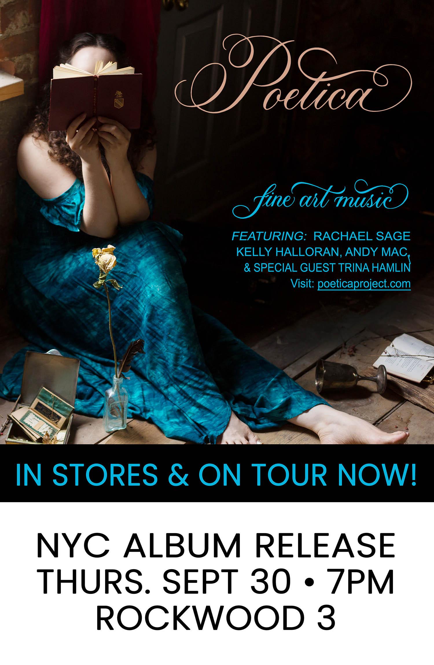 Rachael Sage: POETICA Album Release: