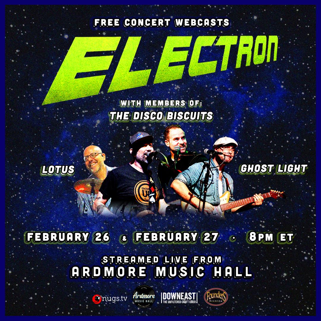 Electron Full Band LIVE Webcasts Fri 2/26 & Sat 2/27: Main Image