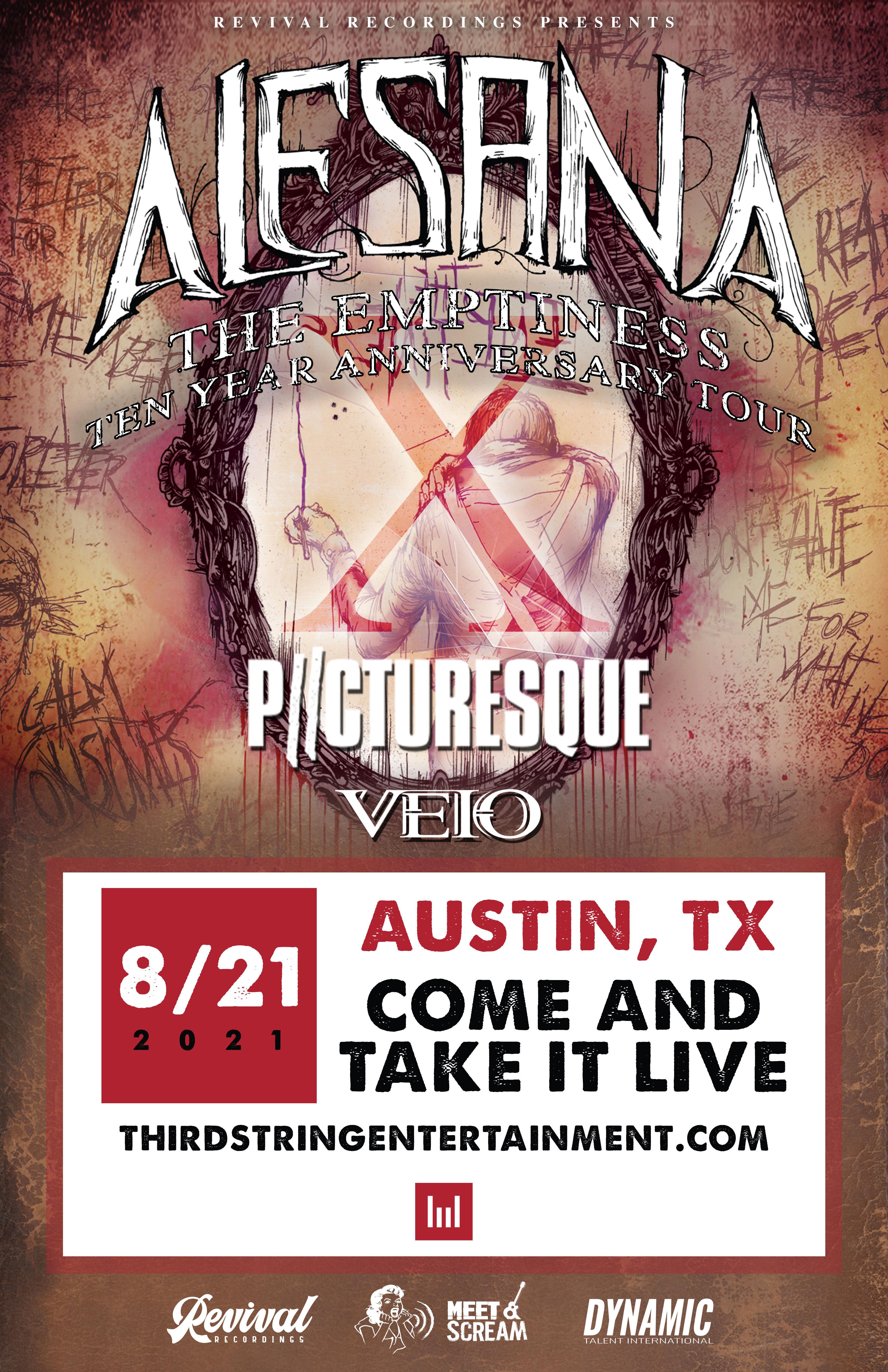 Postponed: Alesana (New Date TBD):