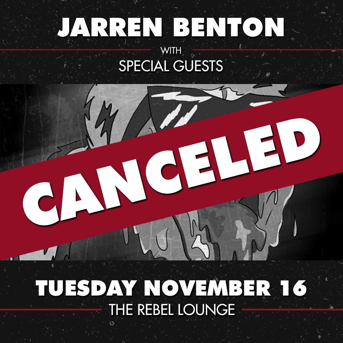 JARREN BENTON: CANCELLED: