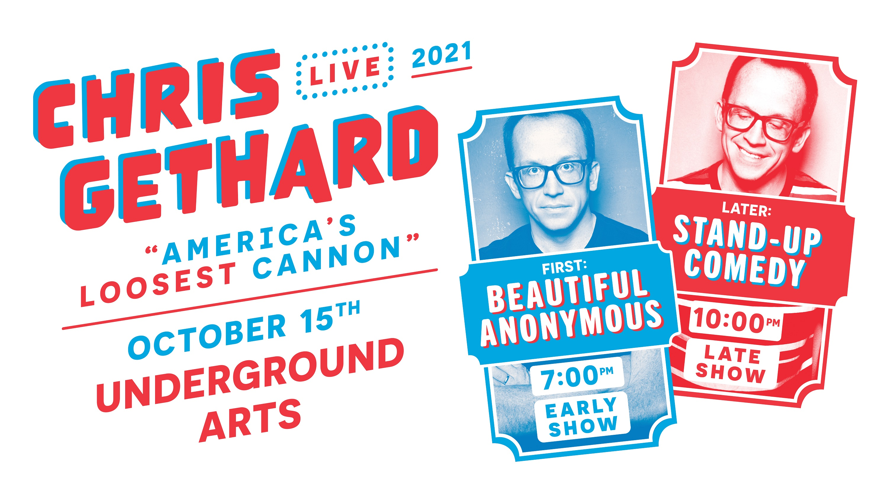 Chris Gethard - America's Loosest Cannon Tour: Main Image