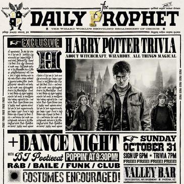 """Halloween"" HARRY POTTER TRIVIA + DANCE NIGHT-img"