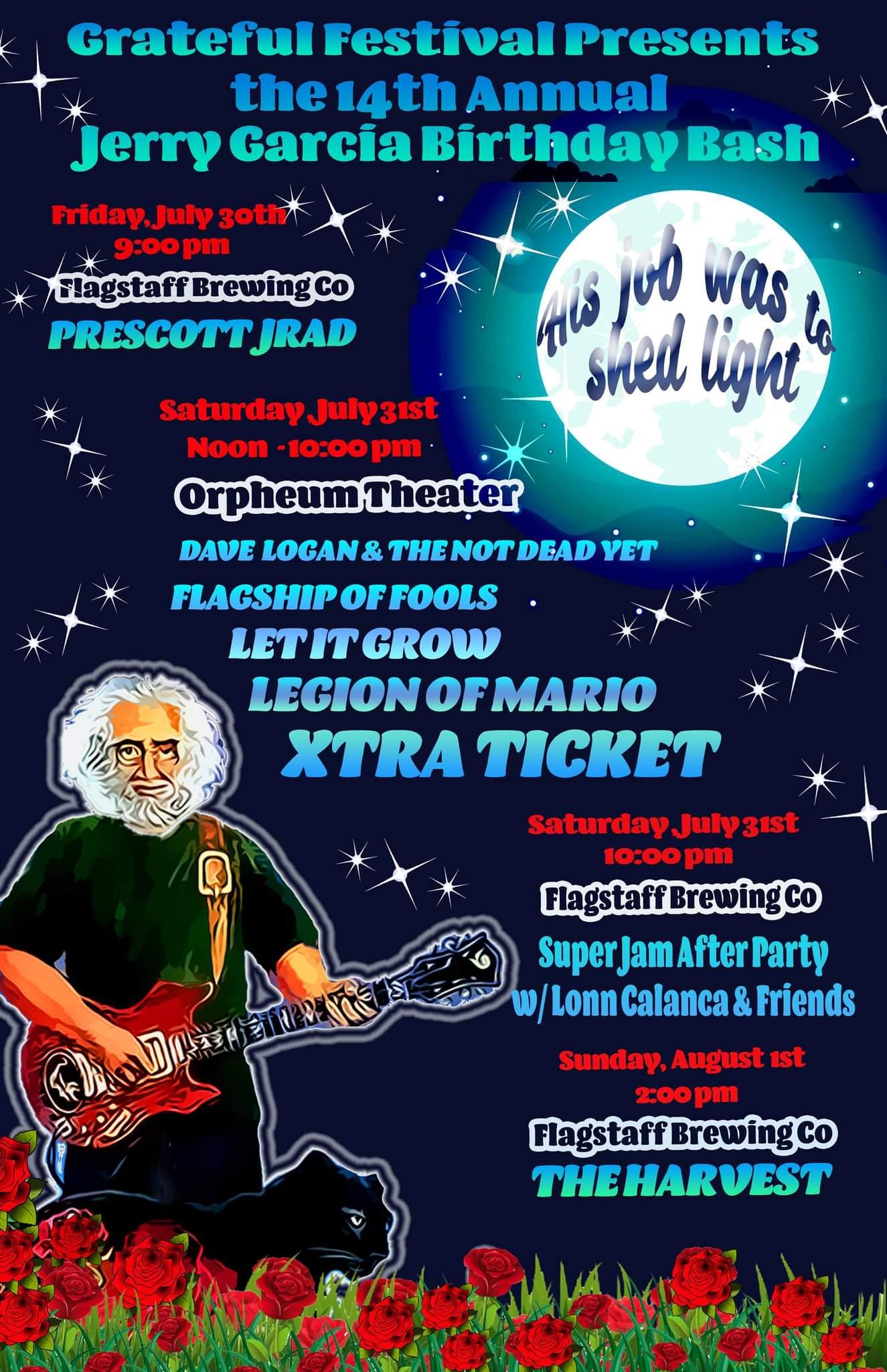 The 14th Annual Jerry Garcia Birthday Bash: