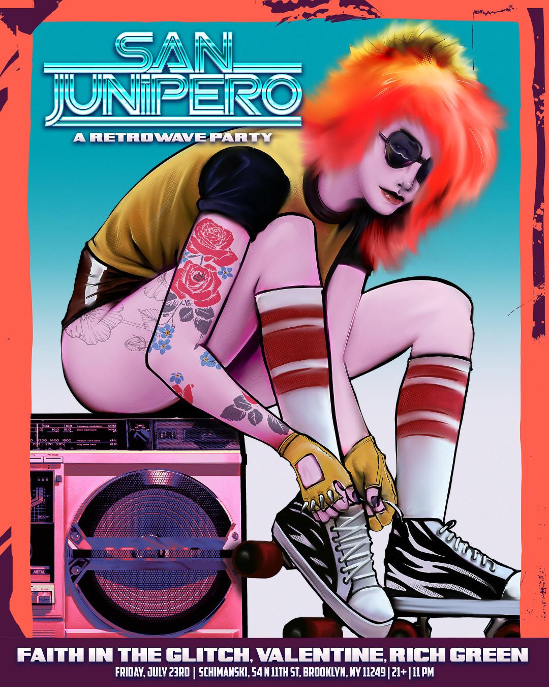 San Junipero: A Retrowave Party: Main Image