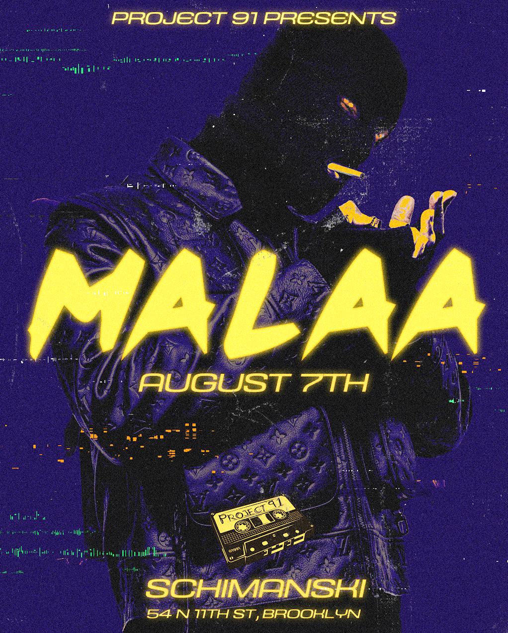 Project 91 Presents: Malaa: Main Image