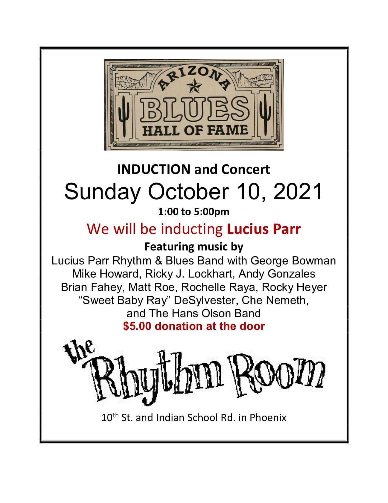 Arizona Blues Hall of Fame Induction: