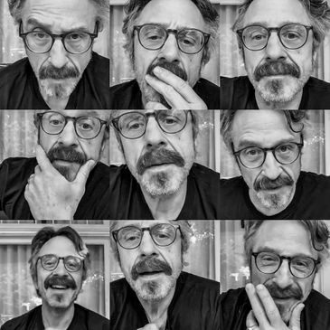 Marc Maron plays music and does comedy and has friends over.-img