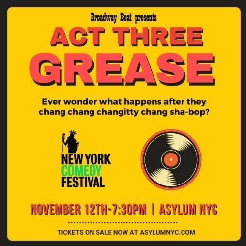 B.B. Presents Act Three - NEW YORK COMEDY FESTIVAL - 7PM: