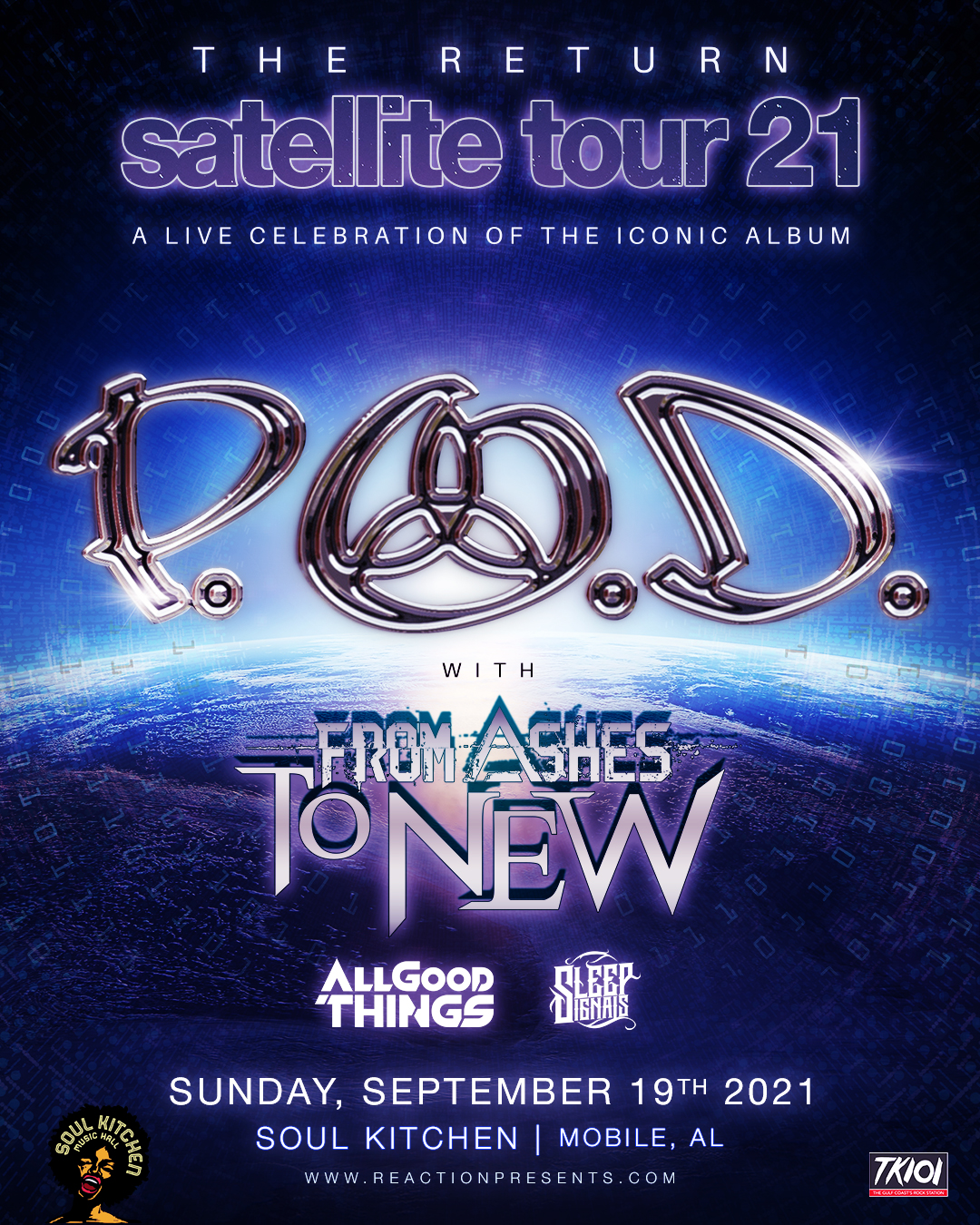 P.O.D. - Satellite 20th Anniversary Tour: Main Image