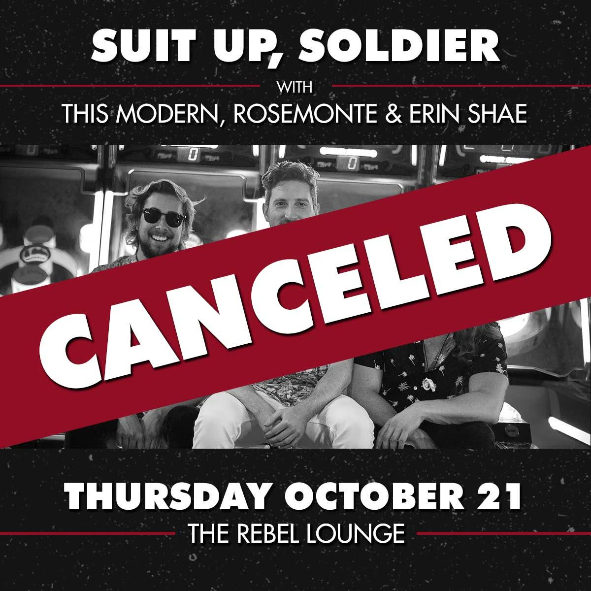SUIT UP, SOLDIER: CANCELLED: