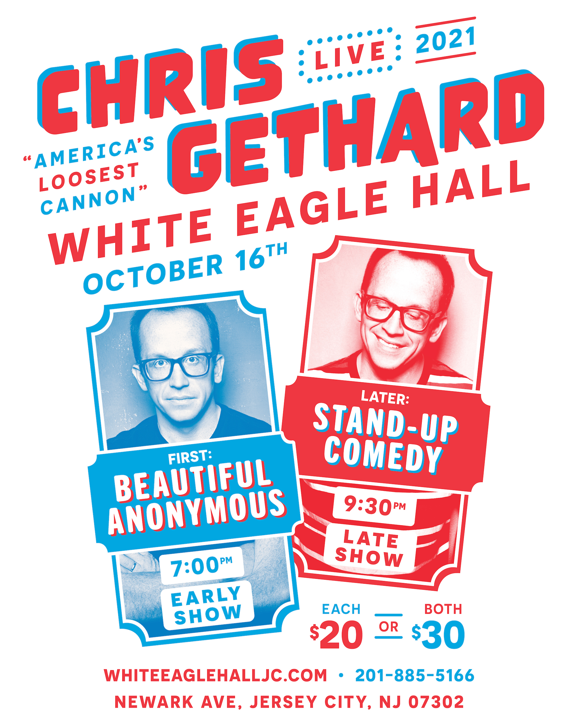 Chris Gethard - America's Loosest Cannon Tour: