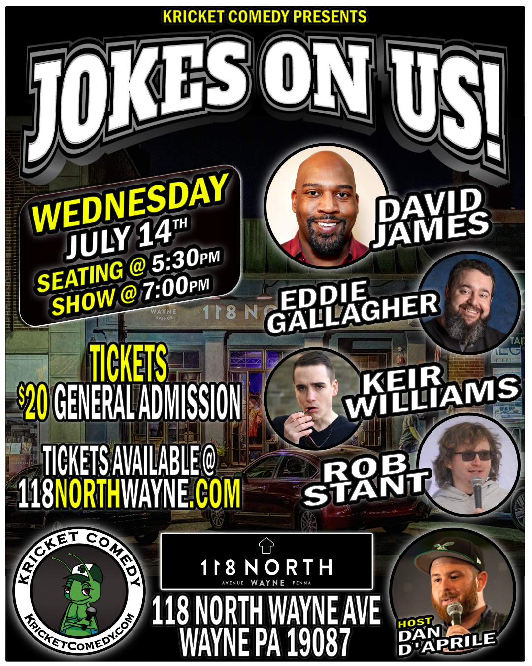 Jokes On Us! Hosted by Dan D'Aprile: Main Image