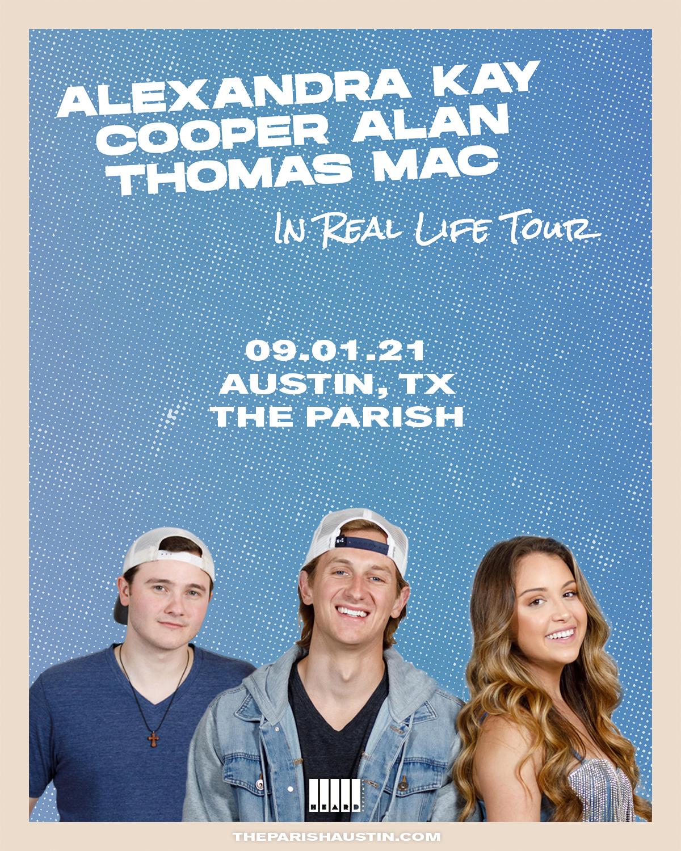 ALEXANDRA KAY AND COOPER ALAN: IN REAL LIFE TOUR: