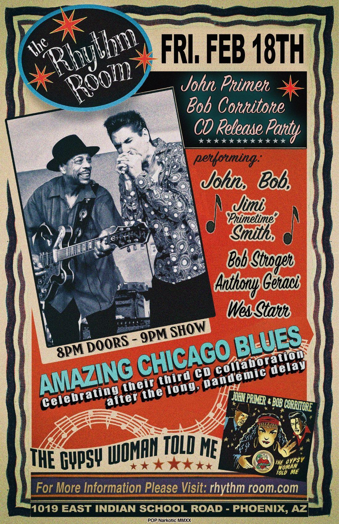 John Primer/Bob Corritore CD Release Party: